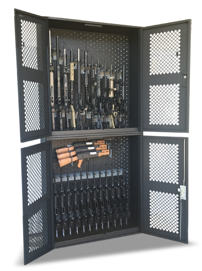 These cabinets start about $550.00 depending on the hanger configuration. We also build custom cabinets to fit a specific size so just let us know.  sc 1 st  GallowTech & Metal Security Gun Cabinets | Weapon Storage Locker | Gallow ...