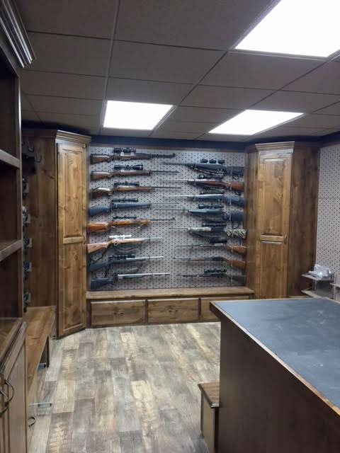 Custom gun room design weapon vault rooms armory for Custom home safes