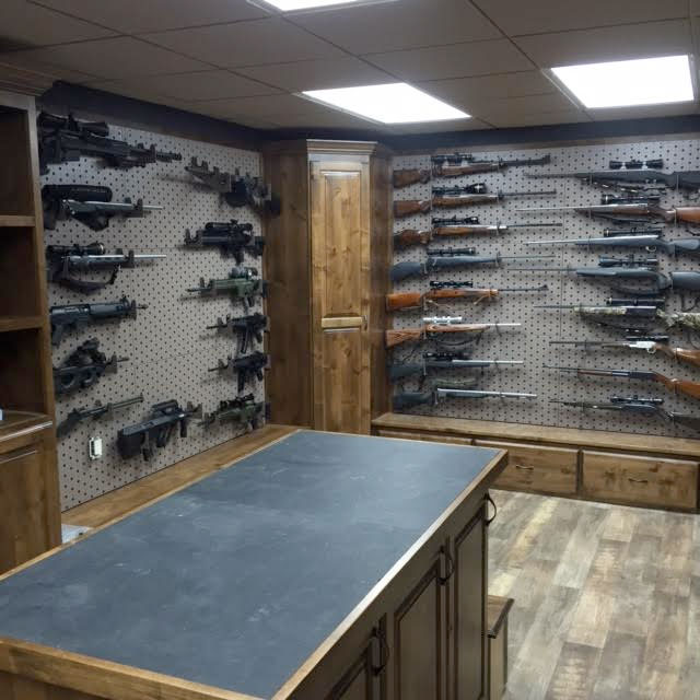 Custom gun room design weapon vault rooms armory for How to build a gun safe room