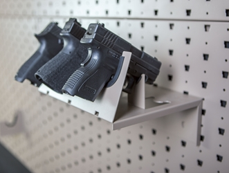 Handgun Shelf Hanger - 3 Handguns