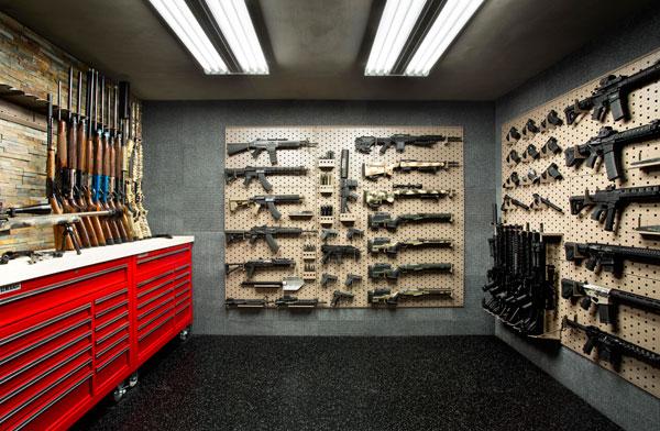 Custom Gun Room Design Weapon Vault Rooms Armory Builds Gallow Technologies